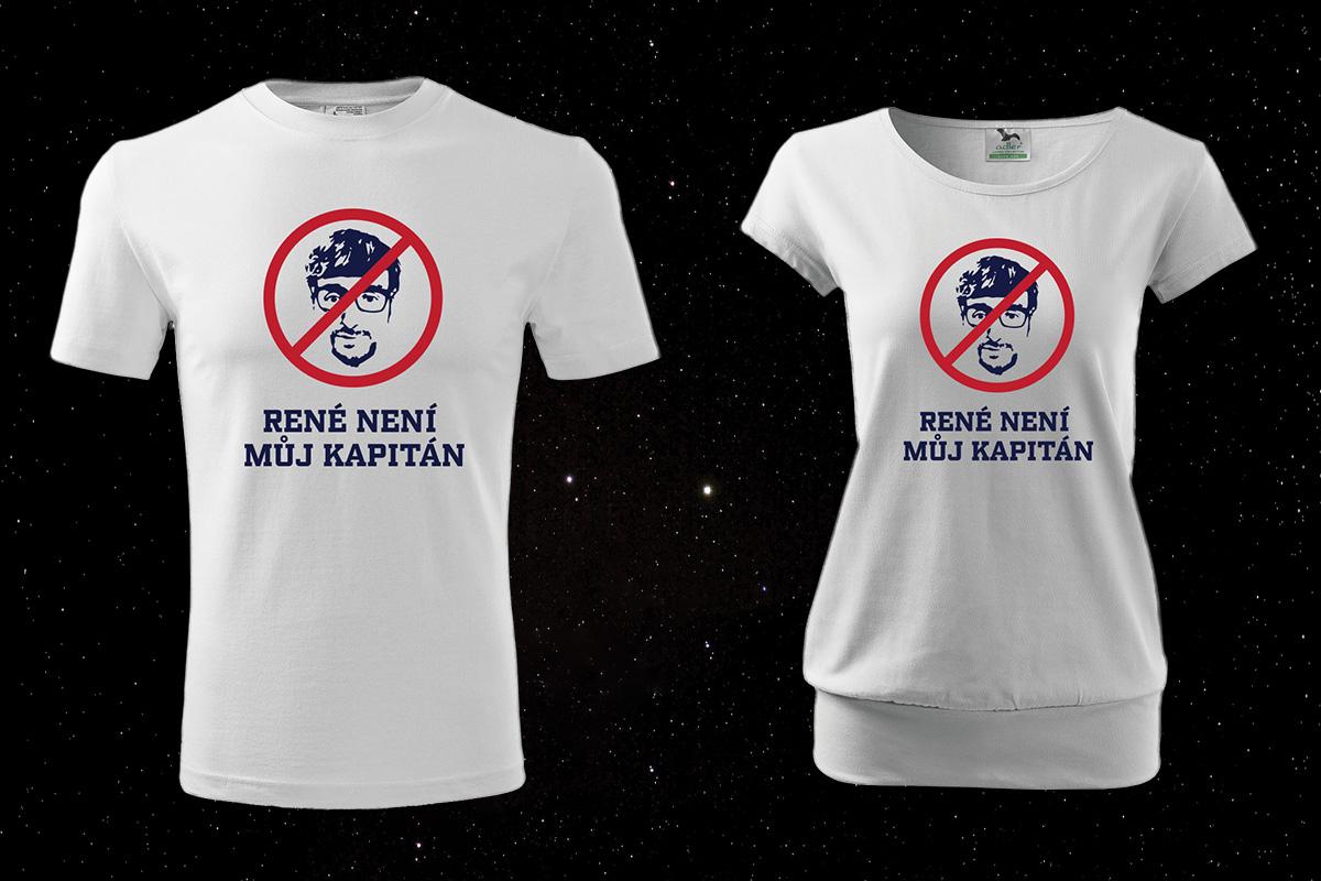 Tričko AntiRené (foto všech suvenýrů najdete v galerii)