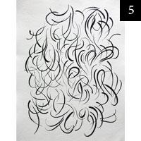 Kresba tuší na ručním papíře A3 #5