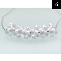 Skleněný šperk, Mořská pěna, sklo, chir. ocel #6