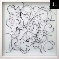 Závěsný objekt II, 52x52cm, sklo #11