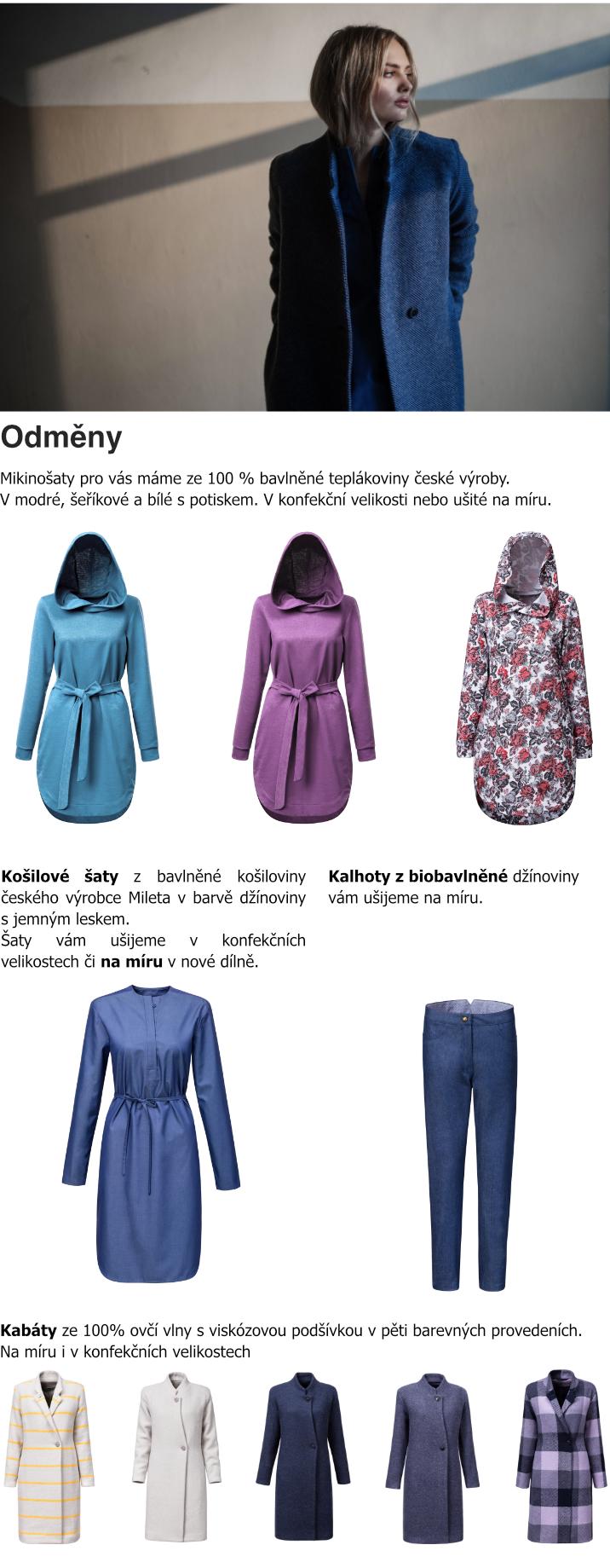 Odměny - kabáty, šaty, sukně