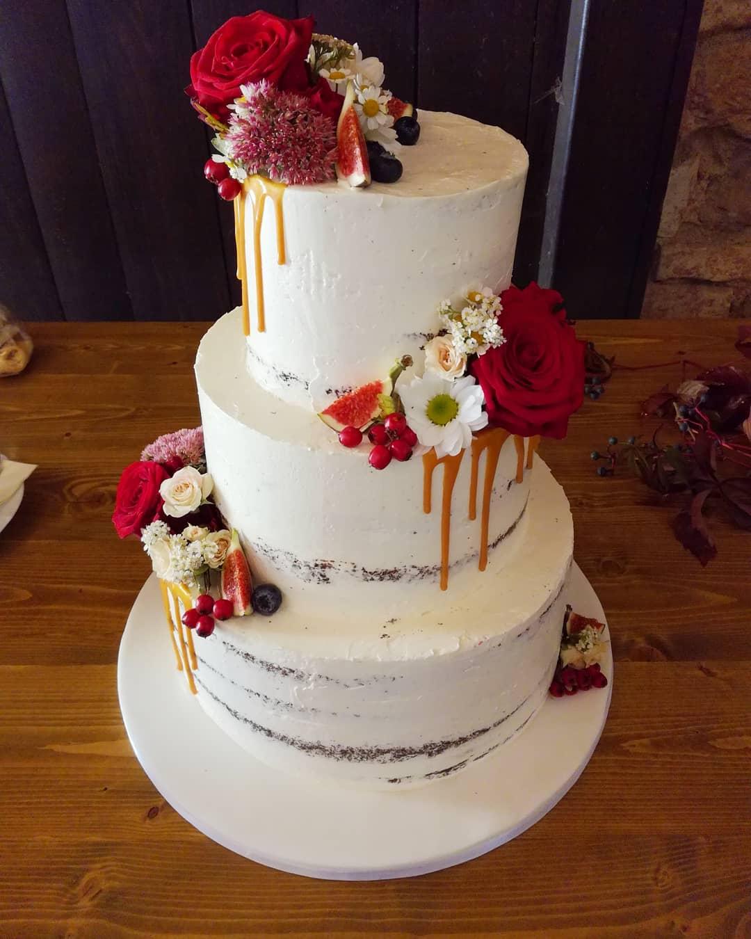 Podzimní svatební dort