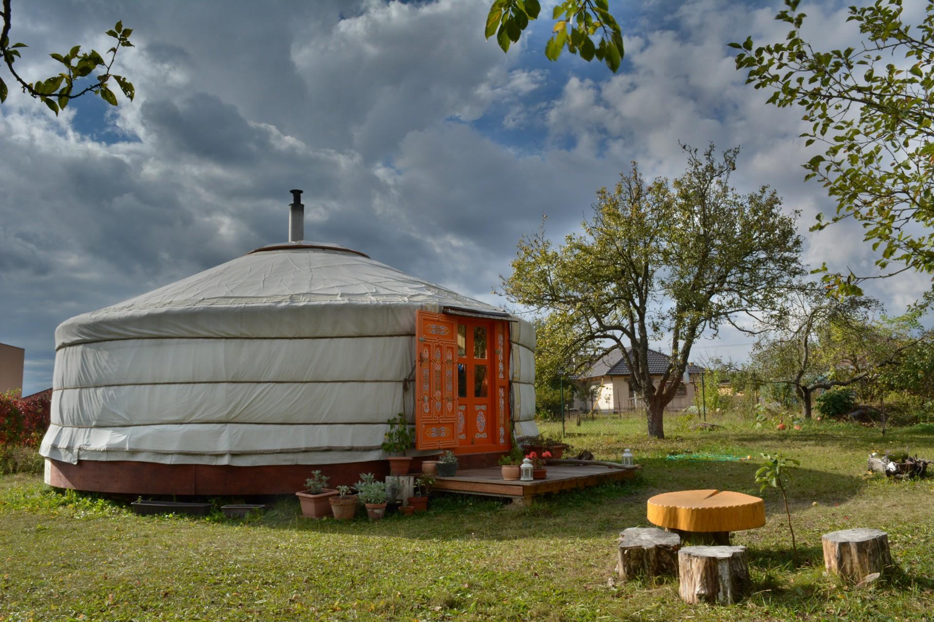 Mongolská jurta.