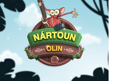 Dětská kniha Nártoun Olin vypráví - logo