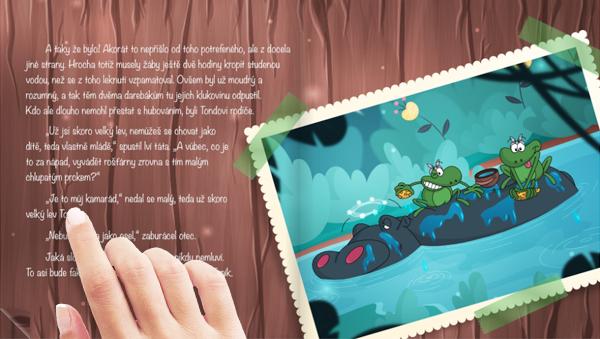 Dětská knížka Nártoun Olin vypráví - ukázka