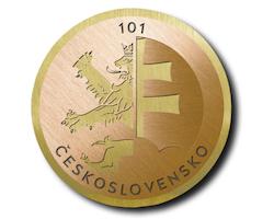Vzácná mince ke 101. výročí vzniku Československa