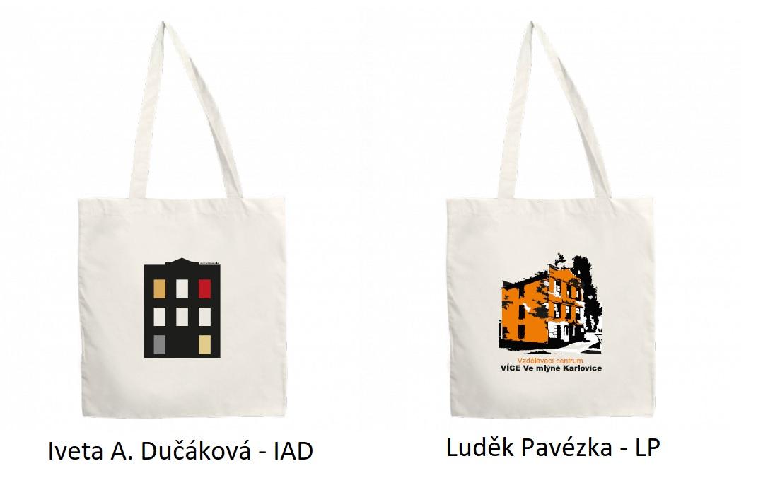 taška s obrázkem Iveta A. Dučáková a Luděk Pavézka