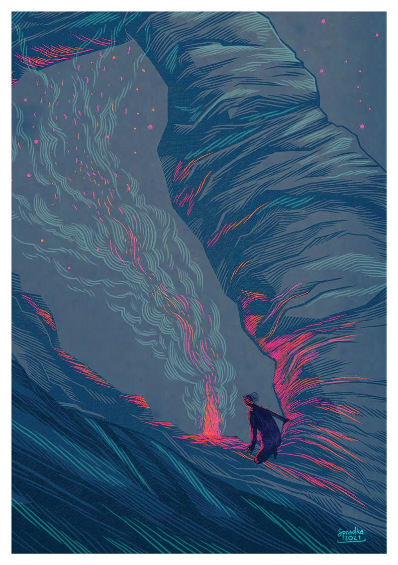 """Pohlednice """"Noc ve skalách"""""""