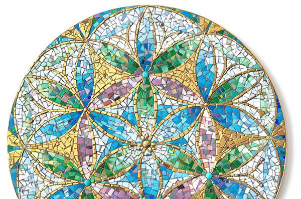"""Mozaikový obraz """"Květ Života"""""""