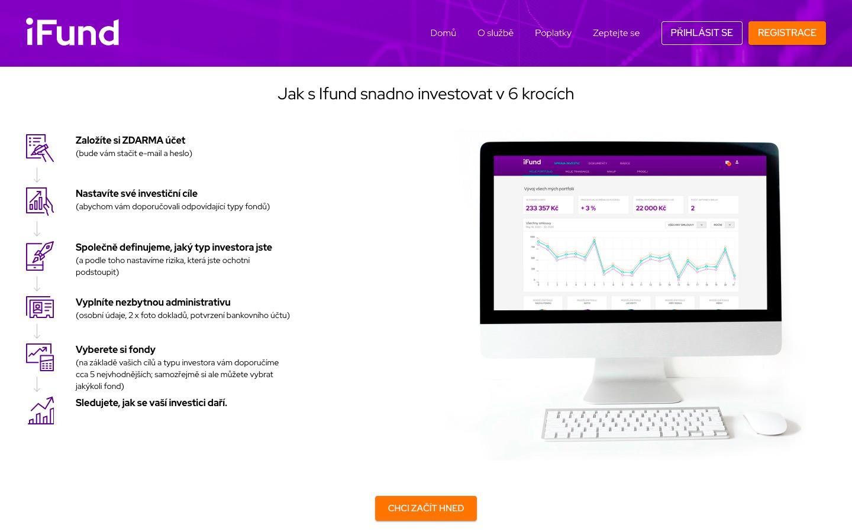 Investování s iFund.cz je snadné v několika přehledných krocích