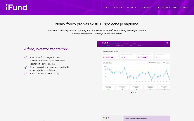 Použít iFund.cz zvládá Alfréd, investor začátečník
