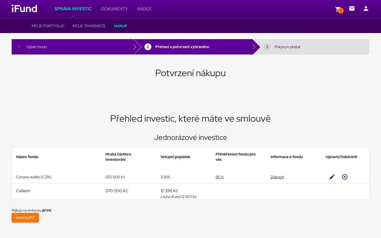 Přehledné informace k nákupu fondu